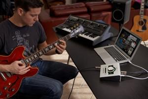 Fig. 2 - Setup simples para gravar guitarra