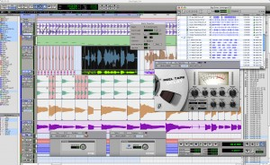 fig. 1 - pro tools 7 interface