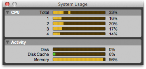 fig. 10 - system usage