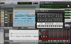 fig. 2 - pro tools 8 interface